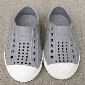 Native C5 Grey Preforated LacelessBreathable Shoes
